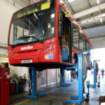 Bus lifted by SEFAC PMX
