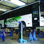 Bus lifted by SEFAC S3