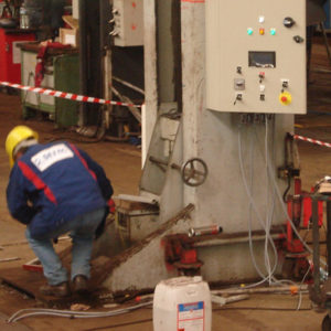 Installation for the rail sector and for cleaning equipment (NettoBus and NettoTram)