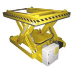 Lifting table for bogies